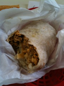 Pig (parts) in a Blanket; the Chorizo Burrito - Image courtesy of Menuism.com